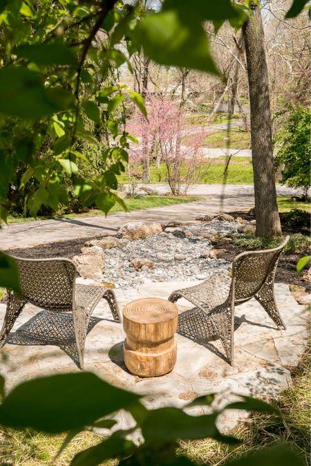 Enjoying our patio this spring.   #LTKhome #LTKunder100 #LTKSeasonal