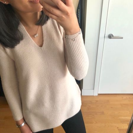 Loving the light pink hue of this sweater (which I also have in grey 😅). I took my usual size XSP for a relaxed fit. @liketoknow.it http://liketk.it/2yLvB #liketkit #LTKsalealert #LTKstyletip #LTKunder50 #LTKunder100 #loveloft LOFT petite blogger