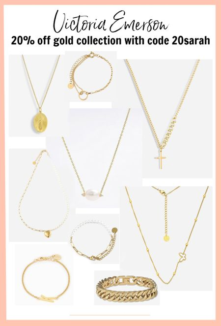 Rounded up some favorites from the Victoria Emerson gold collection. Use coupon 20sarah for 20% off!   #LTKstyletip #LTKunder50 #LTKsalealert