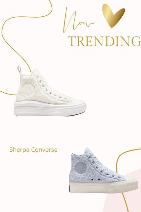 Sherpa converse tennis shoes   #LTKshoecrush #LTKunder100