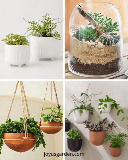 These unique plant pots are a perfect gift for anyone looking to jazz up their home decor. There's something here for every style! Houseplant pots, plant containers, indoor pots, funky plant pots, planters, indoor planters, houseplant planters  #LTKGiftGuide #LTKstyletip #LTKhome