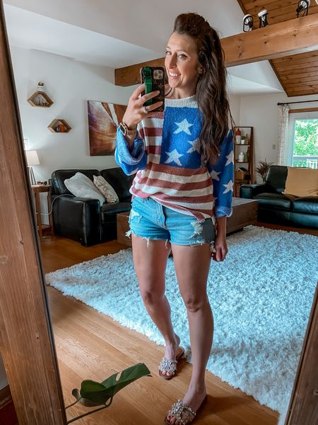 American Flag @amazon sweater   #LTKcurves #LTKsalealert #LTKstyletip