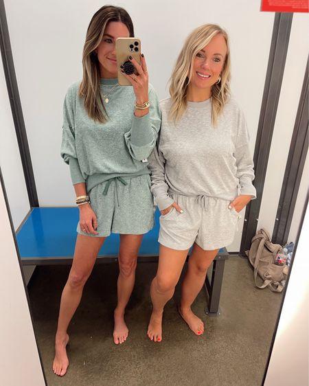 I'm wearing size xs Heather is wearing size small  Comfy loungewear!   http://liketk.it/3jL7H @liketoknow.it #liketkit #LTKtravel #LTKstyletip #LTKunder50