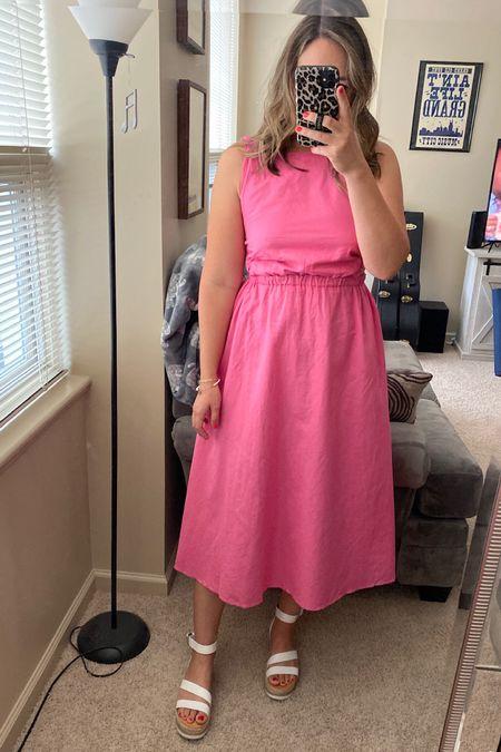 Wedding dresses. Summer dresses. True to size. Wedge sandals. Affordable outfit. http://liketk.it/3ilai @liketoknow.it #liketkit #LTKwedding #LTKshoecrush #LTKunder100