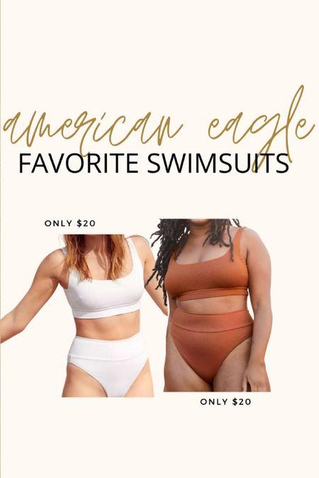 Favorite Aerie / American Eagle swimsuits ~ only $20!!  I bought size medium.  Fits TTS.   #LTKsalealert #LTKswim #LTKunder50