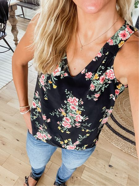 Tank is from Old Navy and on sale today!! Wearing size small. Comes in 4 color options.   #LTKstyletip #LTKunder50 #LTKsalealert