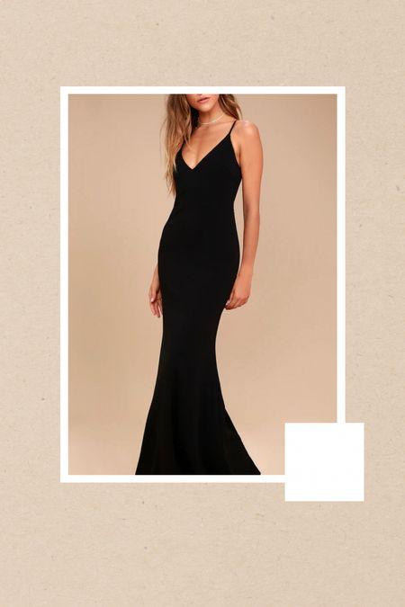 Black wedding guest dress  #LTKunder100 #LTKfit #LTKwedding