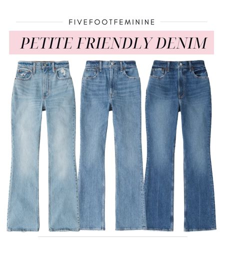 These petite friendly jeans are magic!!!   Finding jeans that don't make my legs look extra short can be a struggle but these high waisted vintage flare jeans are gold! They elongate my legs and fit my tush perfectly!  Link in bio to shop! For reference I'm wearing size 25 short. #jeans, #denim #abercrombie #ltkday #ltkfall #falloutfit  #liketkit #LTKunder100 #LTKSale @shop.ltk http://liketk.it/3odge  #LTKSale #LTKunder100