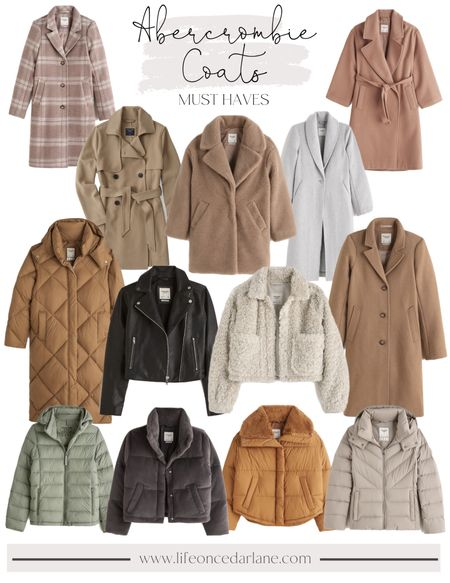 Abercrombie Coat Roundup- how do you even choose?! They're all so gorgeous & so impressed with the quality, too!!   #coats #fallcoats #wintercoats  #LTKSeasonal #LTKsalealert