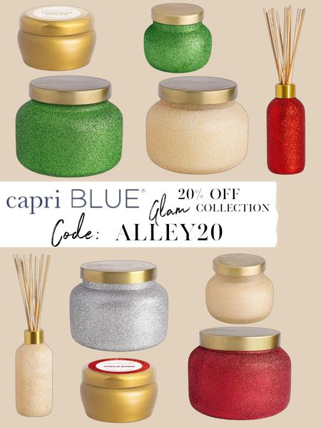 20% off Capri Blue candles glam collection with code ALLEY20 😍  #LTKhome #LTKunder50 #LTKsalealert