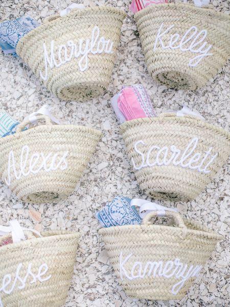 Bridal welcome bags.   #LTKitbag #LTKswim #LTKwedding