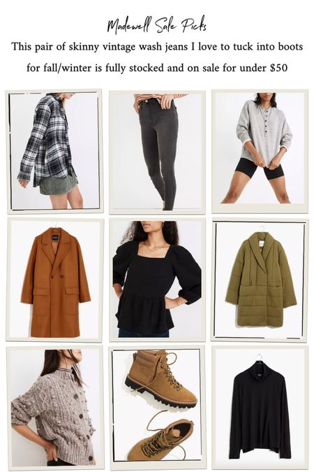 Madewell sale picks including this perfect fall jean!   #LTKsalealert #LTKstyletip #LTKunder50