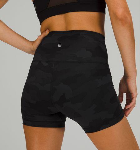 Workout shorts! Size up one! Just ordered these 😍      Lululemon  Wunder train Spandex shorts Biker shorts Camo workout Workout attire  #LTKtravel #LTKbump #LTKfit