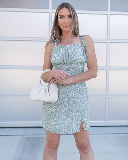 http://liketk.it/3jhPS #liketkit @liketoknow.it #LTKunder50 #LTKshoecrush #LTKstyletip Amazon fashion Amazon finds floral dress ruched bag gold bracelet braided sandals