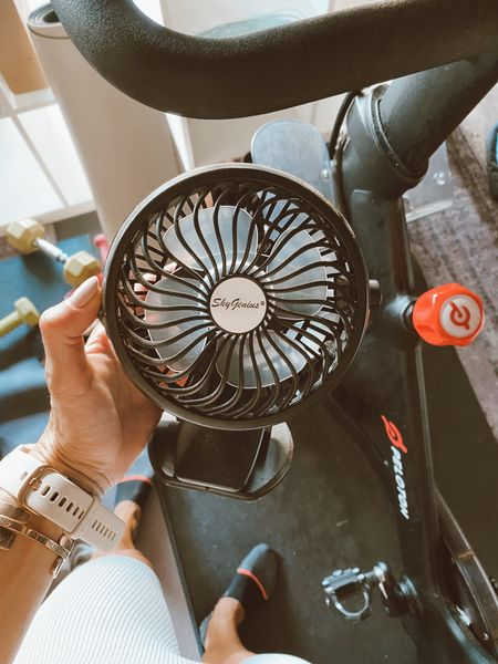 Portable/clip on fans… attach these to our spin bike in the summer! //