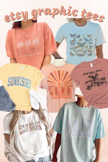 Graphic tees, summer, tshirt, Etsy, custom, sunkissed, beachy, western, Jesus, Christian, Malibu, trendy, oversized, butterfly, palm tree, sunshine http://liketk.it/3jUtg #liketkit @liketoknow.it #LTKstyletip #LTKunder50 #LTKfit You can instantly shop all of my looks by following me on the LIKEtoKNOW.it shopping app