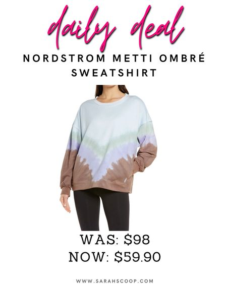 💥Nordstrom Anniversary Sale💥 This eye-catching ombré dye pattern with handy side-seam pockets and design add for the ultimate staple in your wardrobe💚 Originally $98 it's now on sale for $59.90! #nordstromanniversarysale #nordstrom #nordstromsale #dailydeals #savetoday #deals #womensdeals #womensclothes #sweatshirt #freepeople   #LTKSeasonal #LTKstyletip #LTKsalealert