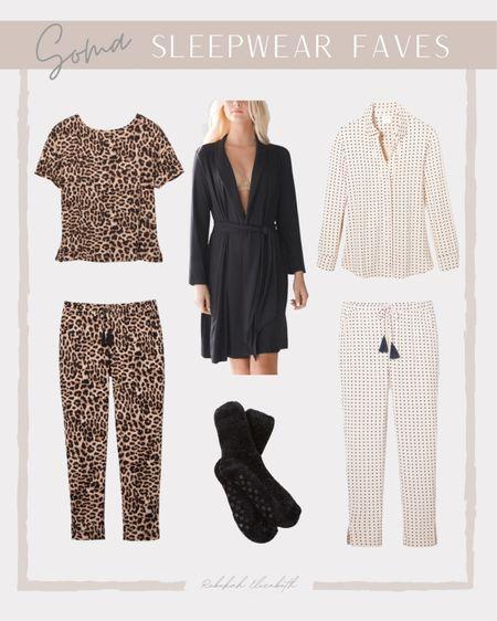 Soma sleepwear favorites from last week are on sale!! | leopard print pajama set • cozy black robe • fuzzy socks | #rebekahelizstyle #cozyoutfit #comfyoutfit   #LTKcurves #LTKsalealert #LTKSale