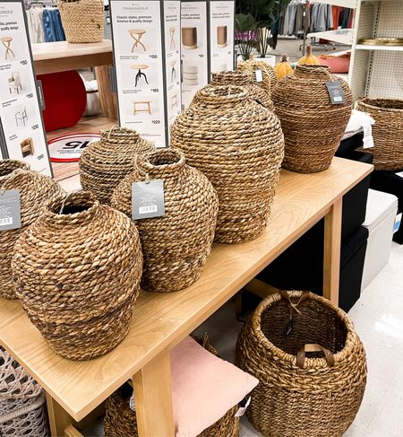 My woven baskets are fully in stock in my local Target! I have both the small and large size.   Target finds  Target decor Home decor   #LTKhome #LTKSeasonal #LTKunder50