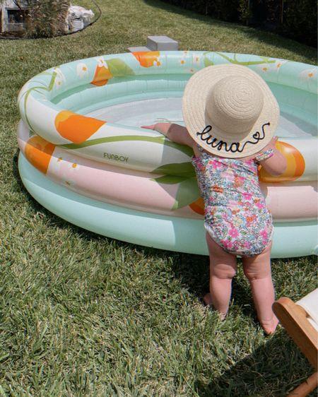 Baby girl pool vibes! Love this personalized ETSY hat so much. http://liketk.it/3gvci @liketoknow.it #liketkit #LTKkids #LTKunder50 #ltkbaby