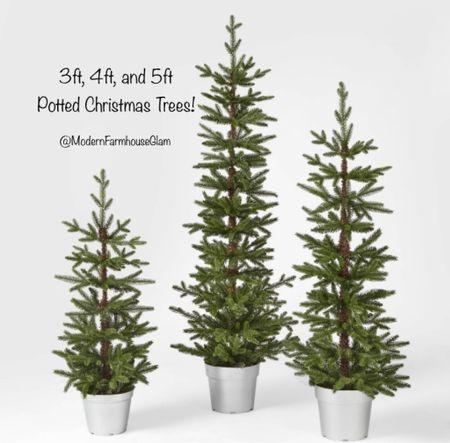 3 foot Christmas tree, 4 foot Christmas tree, 5 foot potted Christmas tree, flocked Christmas tree, Christmas decor, skinny tree, home decor, furniture, a Modern Farmhouse Glam, Walmart  #LTKhome #LTKSeasonal #LTKHoliday