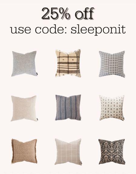 Throw pillow sale! 25% off designer pillows from Studio McGee   #LTKhome #LTKsalealert #LTKstyletip