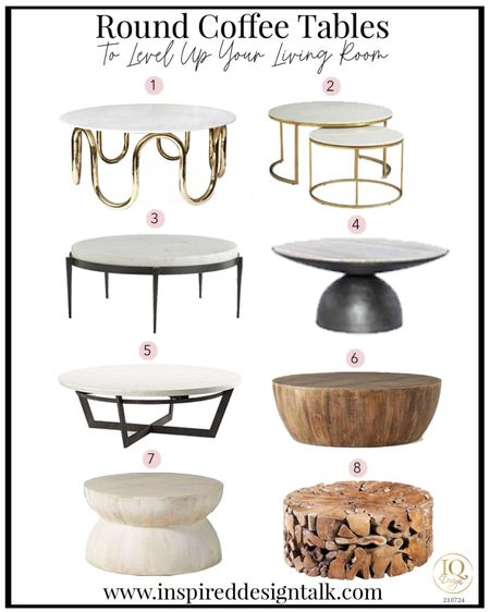 Awesome modern round coffee tables that will update your living room.  Living room decor, living room inspiration, home decor, home design, coffee table, drum coffee table, round coffee table, wood coffee table, marble coffee table, marble and brass coffee table, wood drum coffee table, marble gold coffee tables  You can instantly shop my looks by following me on the LIKEtoKNOW.it shopping app   #LTKstyletip #LTKhome #LTKbeauty