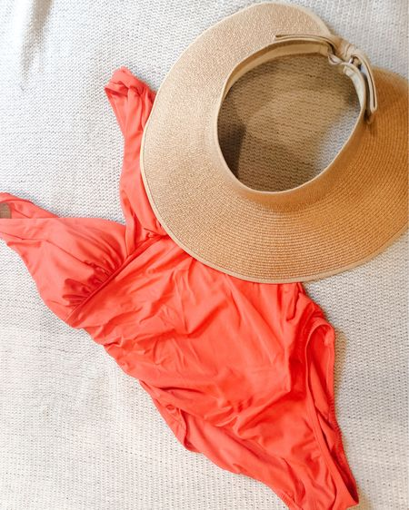 Next week is one of my favorite weeks of the summer! Canada Day and Independence Day just days a part. We're planning to be in the pool for a lot of it so a red swimsuit it is to show my patriotism. This sun visor is currently included in the Amazon sale so snag it now if you want it!   http://liketk.it/2R1iU #liketkit @liketoknow.it #LTKswim #LTKsalealert