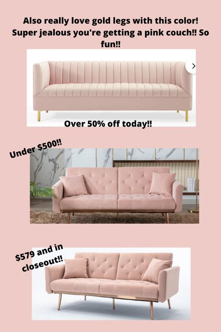 Pink couches on Sale with Wayfair!  #LTKsalealert #LTKhome