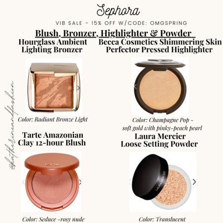 Sephora sale - favorite bronzer, blush, highlighter and setting powder!    #LTKbeauty #LTKsalealert