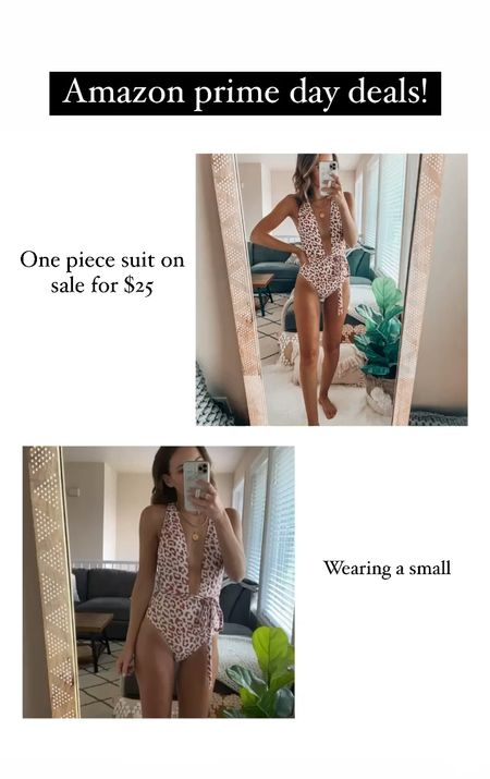 Amazon prime day deals✨ Wearing a small one piece   #LTKsalealert #LTKswim