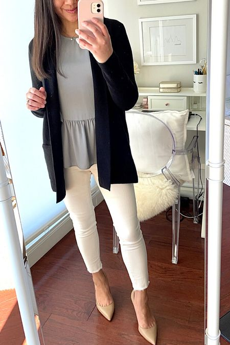New on the blog! J.CREW FACTORY CHELSEA SWEATER BLAZER + A FEW DENIM REVIEWS 👉🏻 https://www.whatjesswore.com/2021/10/j-crew-factory-chelsea-sweater-blazer-a-few-denim-reviews.html  Sweater blazer in size small petite  #LTKworkwear #LTKstyletip #LTKunder100