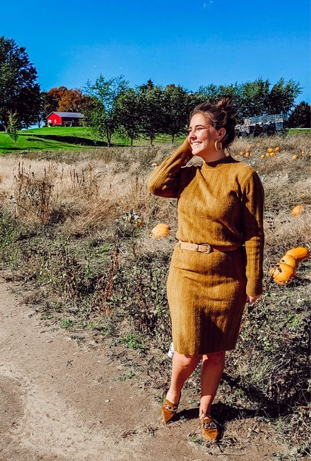 Happy fall Friday friends! This sweater dress is $30 from Target! I love this beautiful color. Fits TTS, I'm in a Small!   #LTKstyletip #LTKworkwear #LTKunder50