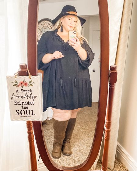 Super easy way to bring this dress into fall!   #LTKcurves