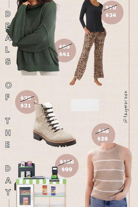 Daily deals, deals of the day Toddler gift idea, kids supermarket, sweater tank, hiker boots, combat boots, pajamas, gifts for mom, gifts for her   #LTKGiftGuide #LTKsalealert #LTKunder50
