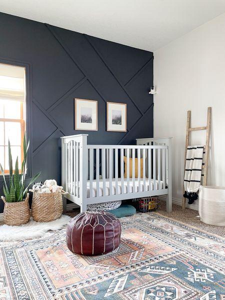 Modern boho nursery decor inspo.   #LTKhome #LTKbaby #LTKfamily