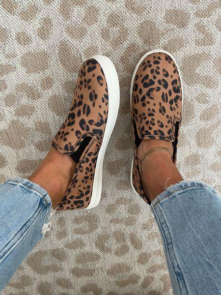 Leopard slip on sneakers size 7  #LTKunder100 #LTKunder50 #LTKshoecrush