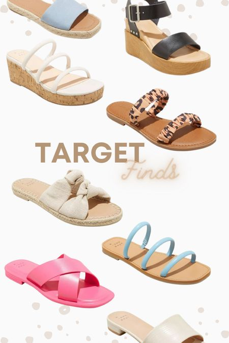 Target sale! All these summer sandals are 20% off right now!  #LTKsalealert #LTKunder50 #LTKshoecrush
