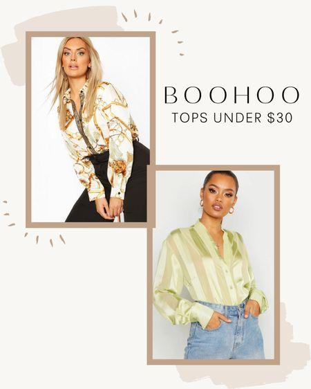 Boohoo Tops and Blouses Under $30!   #LTKcurves #LTKSale #LTKstyletip