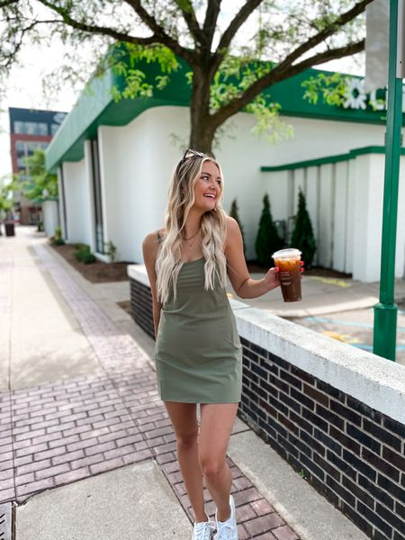 http://liketk.it/3gG5d #liketkit @liketoknow.it #LTKfit #LTKstyletip #LTKunder100 absolutely loving this active dress from Abercrombie! So comfy and easy to throw on for the summer!