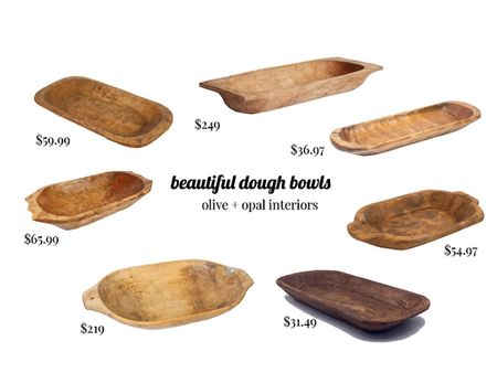 Dough bowls, large wooden bowls, vintage wood bowls  Dough bowls are great addition to any room, either filled or left empty and beautiful.  #LTKhome
