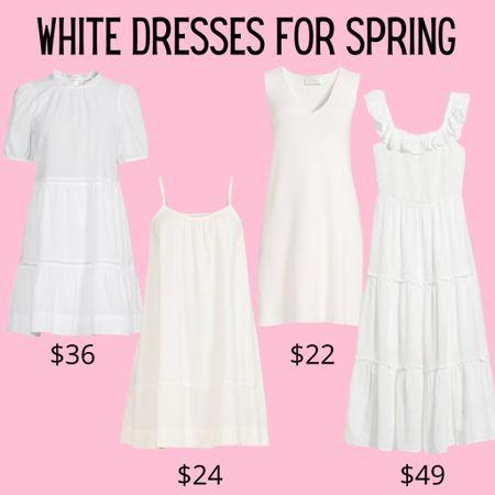 White dresses for spring under $50 http://liketk.it/3eZ2V #liketkit @liketoknow.it #LTKunder50