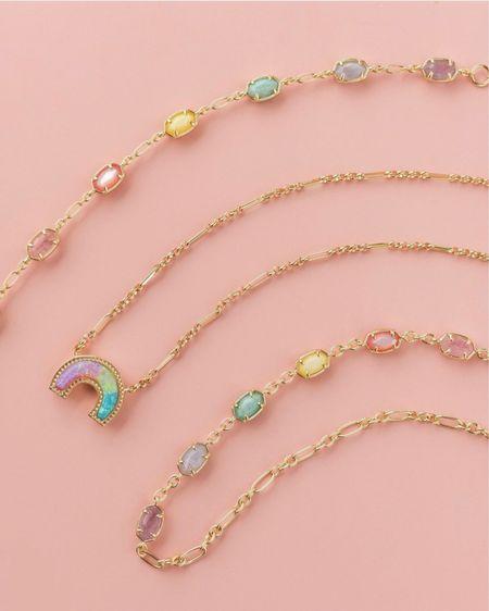 New Kendra Scott Rainbow Collection Layering necklaces   #LTKunder100 #LTKstyletip #LTKbeauty #liketkit @liketoknow.it http://liketk.it/3jKkI