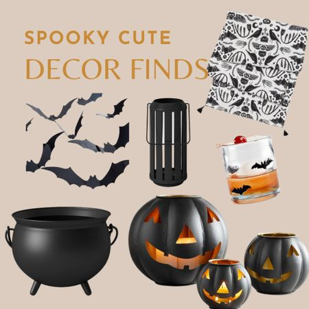 Halloween decoration, pumpkin lantern, cauldron, bats  #LTKunder50 #LTKhome #LTKHoliday
