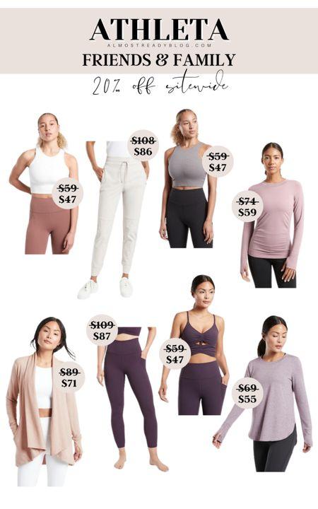 Athleta Friends&Family sale, 20% off your purchase athleta athletic topt activewear leggings yoga pants sport bras http://liketk.it/3nukY @liketoknow.it #liketkit #LTKunder100 #LTKunder50 #LTKfit
