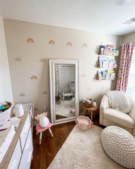 Callie's rainbow nursery! 🌈💕 baby girl nursery. Neutral nursery   http://liketk.it/3fz6D #liketkit @liketoknow.it #LTKbaby #LTKhome #LTKfamily #nursery #babygirl #babygirlnursery #neutralnursery