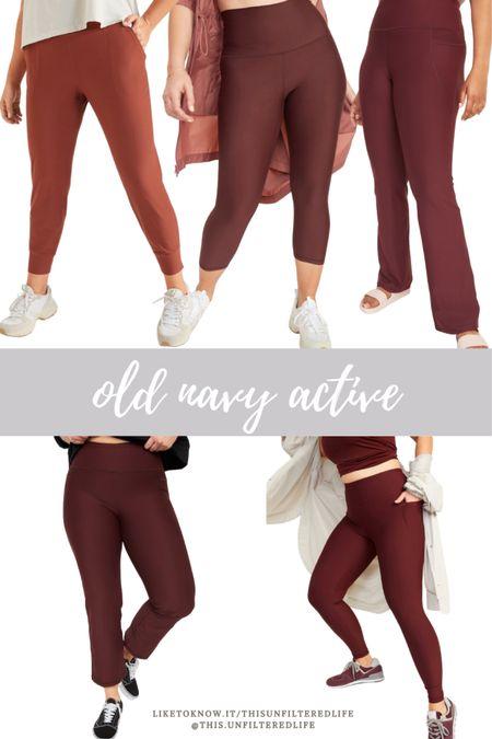 Old navy active bottoms. Compression leggings #compressionleggings #oldnavyfinds #workoutleggins  #LTKunder50 #LTKstyletip #LTKfit