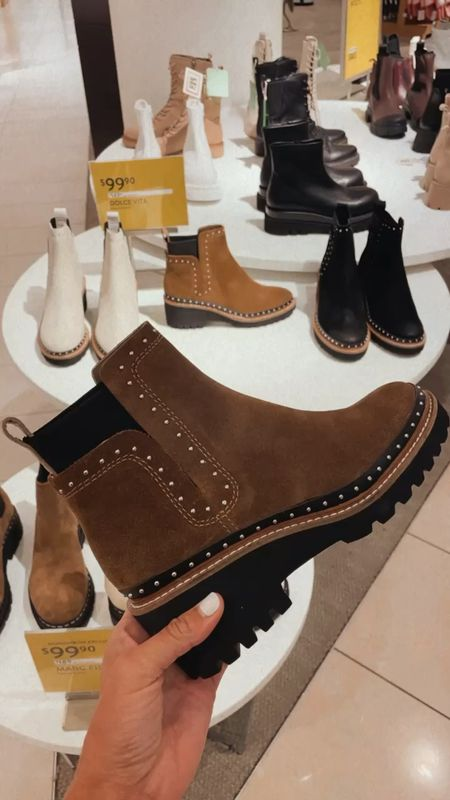 Obsessed with these studded under $150 booties   #LTKshoecrush #LTKstyletip #LTKSeasonal