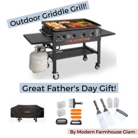 Great Father's Day gift idea! My husband loves his Blackstone griddle grill, great for making cheesesteaks! Grill accessories, barbecue, spatula, grill cover, Walmart, Amazon, men's gifts. Modern farmhouse glam. http://liketk.it/3hf5T #liketkit @liketoknow.it #LTKsalealert #LTKmens #LTKhome @liketoknow.it.home Shop my daily looks by following me on the LIKEtoKNOW.it shopping app