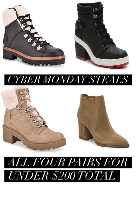 """Ridiculous #cybermonday deals - you could get all four pairs of these boots for under $200 - use code """"CMSAVE30"""" at checkout! http://liketk.it/32ONp #liketkit @liketoknow.it #LTKunder50 #LTKunder100 #LTKsalealert #thebookofcaleb #dealalert #winterboots #fallboots #marcfisher #dsw"""